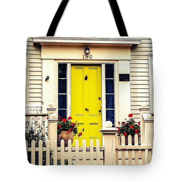 Tote Bag featuring the photograph Yellow Door by Kendall McKernon
