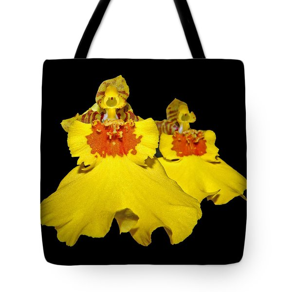 Tote Bag featuring the photograph Yellow Dresses by Judy Vincent