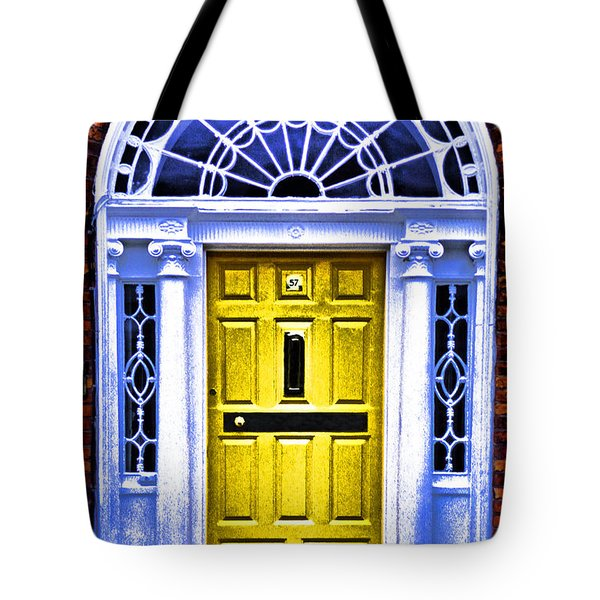 Yellow Dublin Door Tote Bag