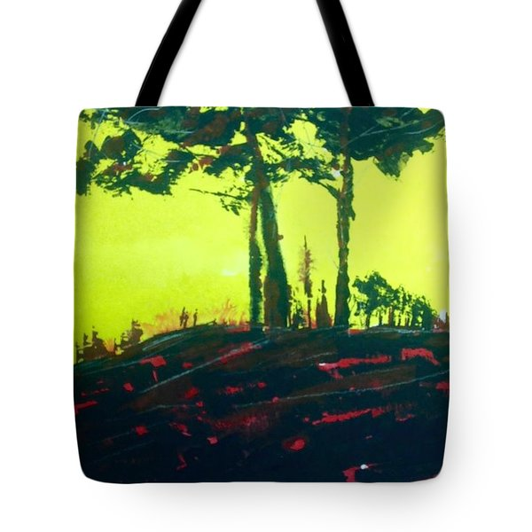 Yellow Dusk Tote Bag