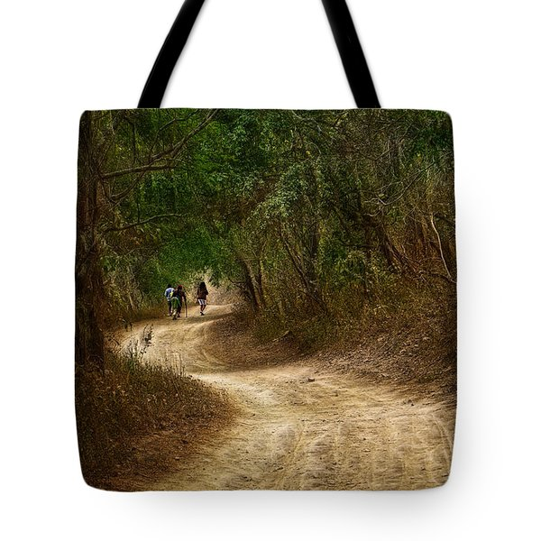 Yellow Dust Road Tote Bag