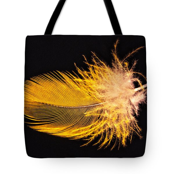Yellow Feather Macro Tote Bag