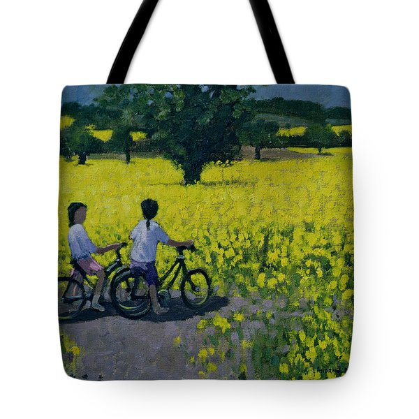 Yellow Field Tote Bag by Andrew Macara
