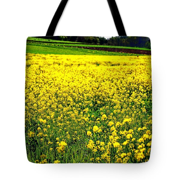 Yellow Field Tote Bag by Bill Cannon