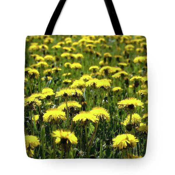 Yellow Field Two  Tote Bag by Lyle Crump