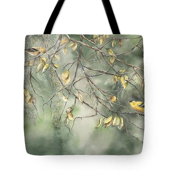 Yellow Finch Tote Bag