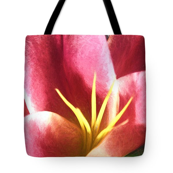 Yellow Fingers, Pink Blush Tote Bag