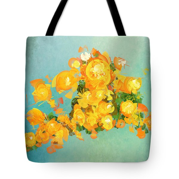 Yellow Fire Spring Tote Bag