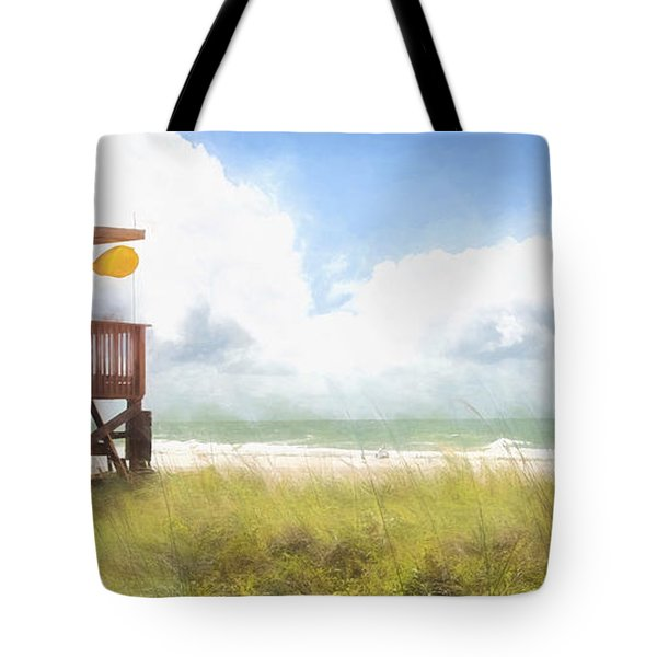 Yellow Flag, Santa Maria Island, Florida Tote Bag