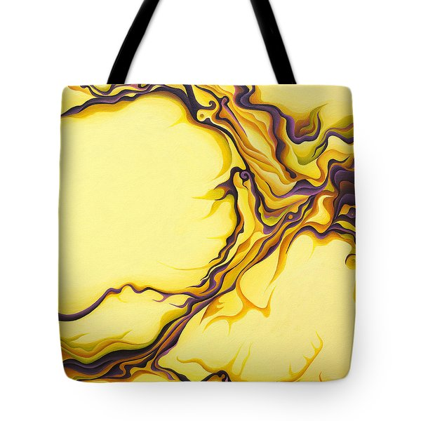 Yellow Flow Tote Bag