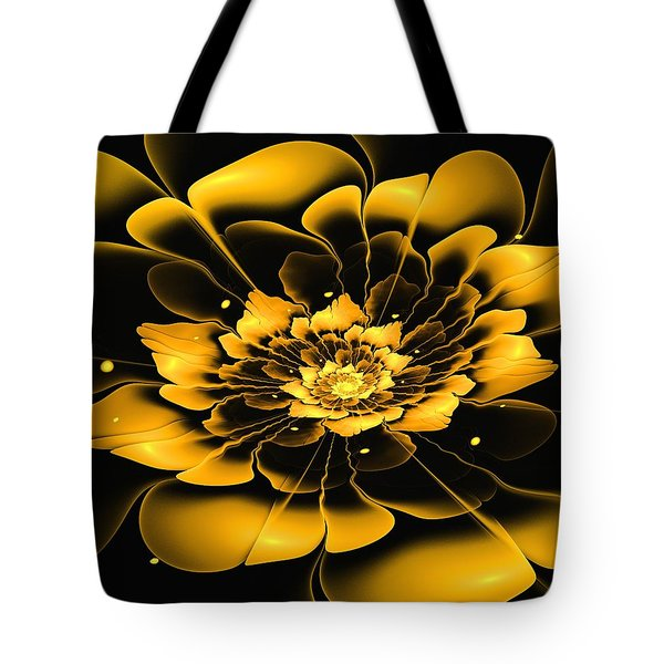 Yellow Flower Tote Bag by Anastasiya Malakhova