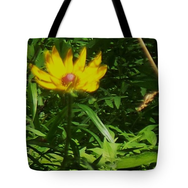 Yellow Flower Tote Bag by Eric  Schiabor