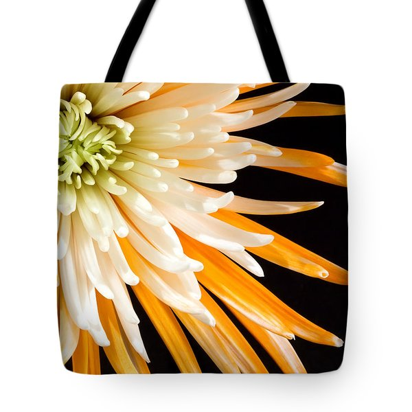 Yellow Flower On Black Tote Bag