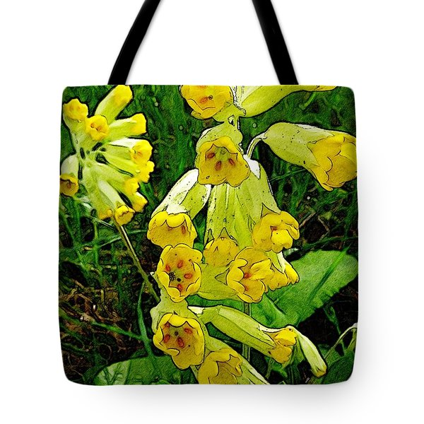 Yellow Flowers 2 Tote Bag by Jean Bernard Roussilhe