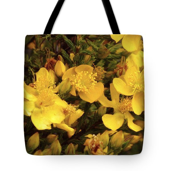 Yellow Flowers Tote Bag