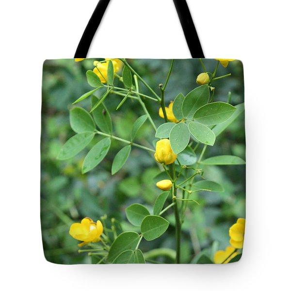 Yellow Flowers Tote Bag by Karen Nicholson