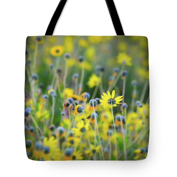Tote Bag featuring the photograph Yellow Flowers by Kelly Wade