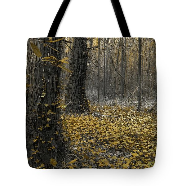 Yellow Forest Tote Bag