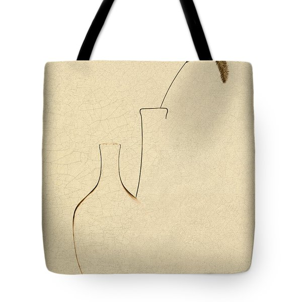 Yellow Foxtail With Vases Tote Bag by Tom Mc Nemar