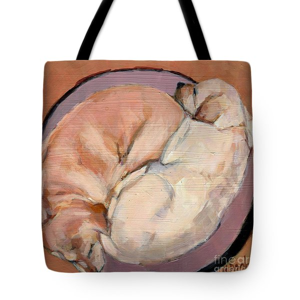 Tote Bag featuring the painting Yellow Go Round by Molly Poole