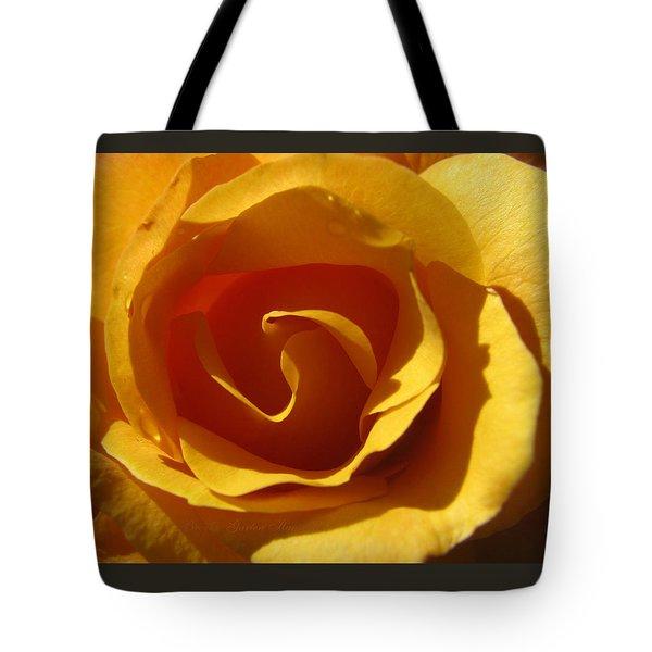 Yellow Gold Swirl Tote Bag