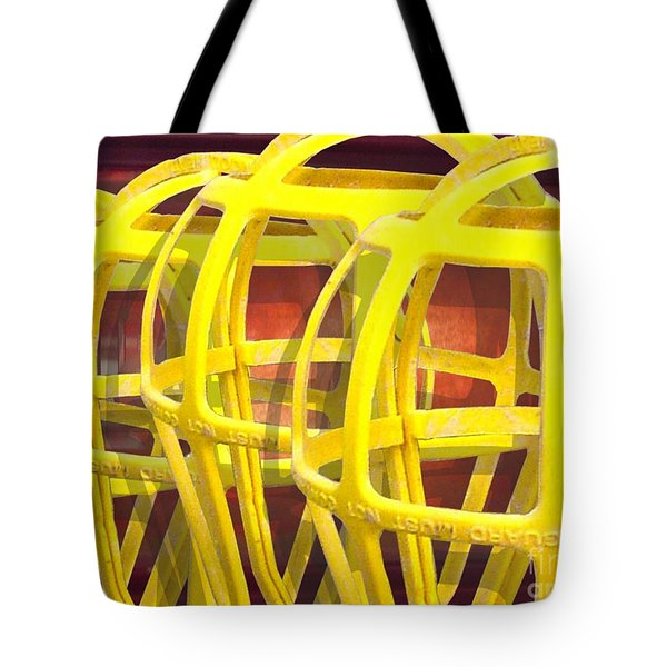 Yellow Guard Tote Bag by Ron Bissett