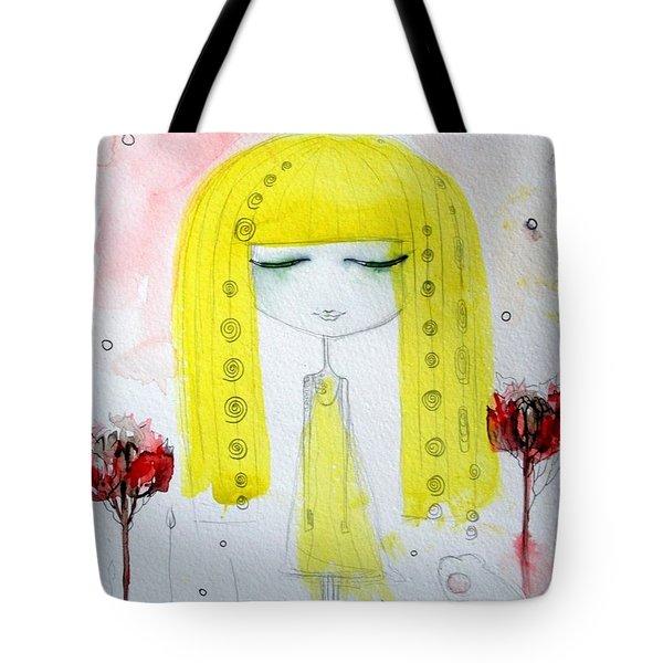 Yellow Hair Girl  Tote Bag