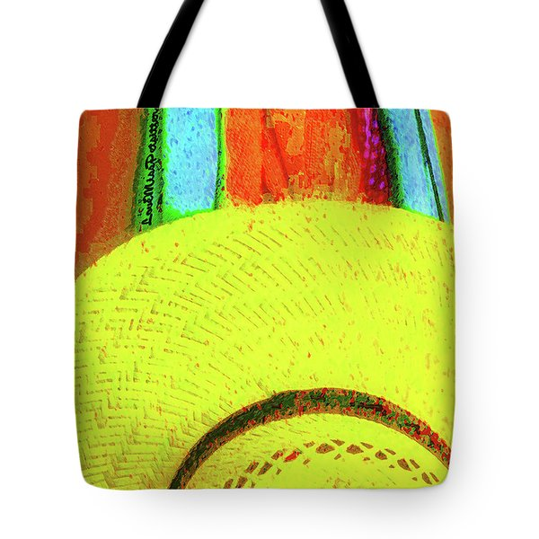Yellow Hat Painting  Tote Bag