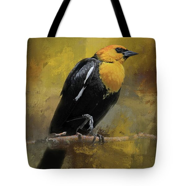 Tote Bag featuring the photograph Yellow-headed Blackbird by Donna Kennedy