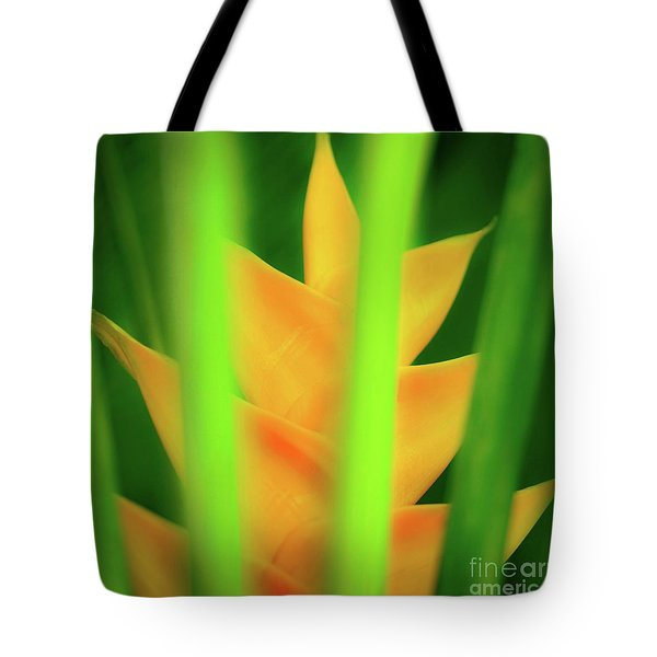 Yellow Heliconia - Tropical Hawaii - 957 Tote Bag