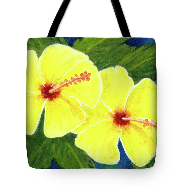 Yellow Hibiscus Flower #292 Tote Bag by Donald k Hall