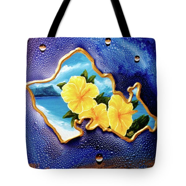 Yellow Hibiscus Hawaii State Flower #142 Tote Bag by Donald k Hall