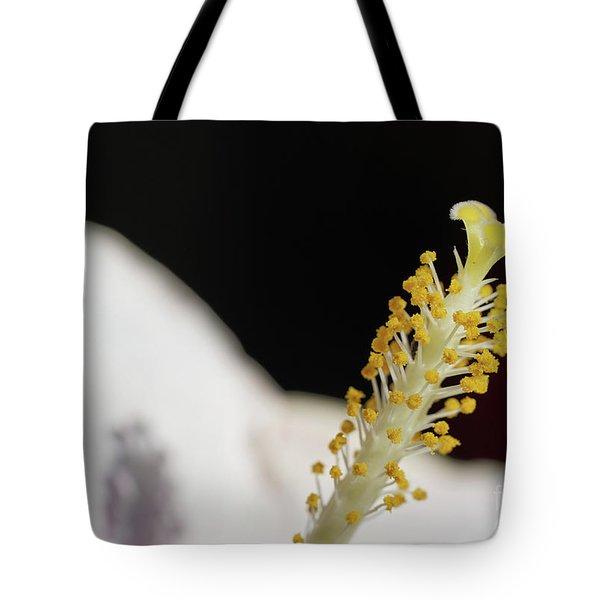 Yellow Hibiscus Stalk Tote Bag