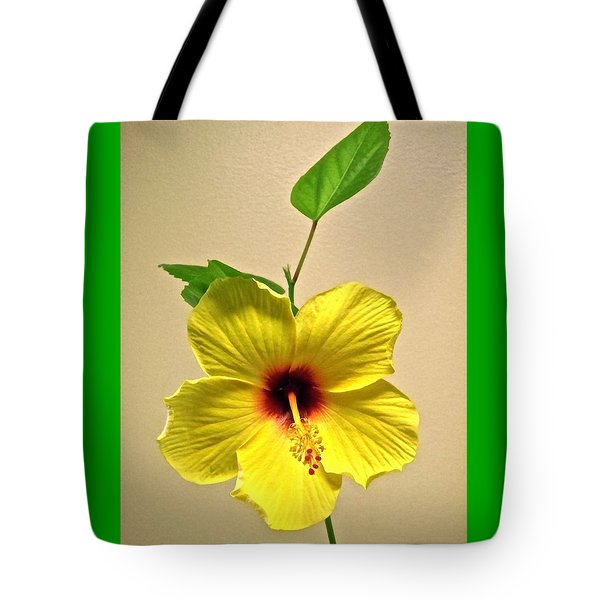 Yellow Hibiscus Tote Bag by Stephanie Moore