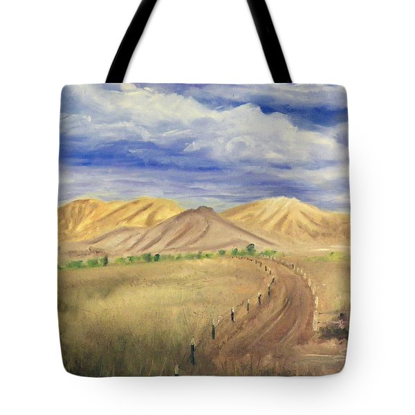 Yellow Hills Of Jensen Tote Bag by Sherril Porter
