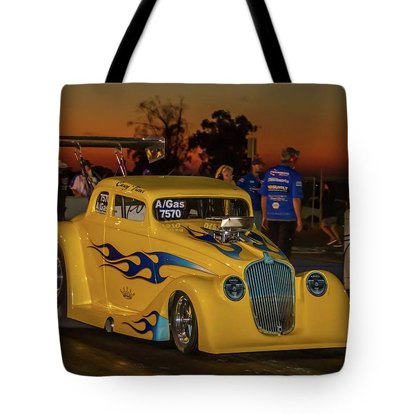 Tote Bag featuring the photograph Yellow Hot Rod by Bill Gallagher