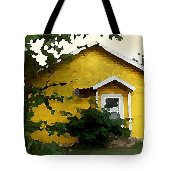 Yellow House In Shantytown  Tote Bag
