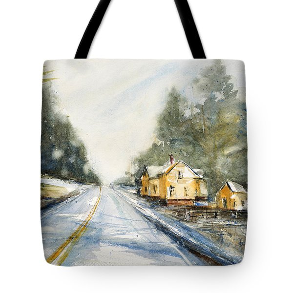 Yellow House On The Right Tote Bag by Judith Levins