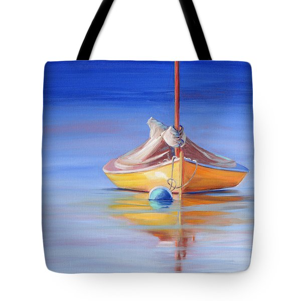 Yellow Hull Sailboat Iv Tote Bag
