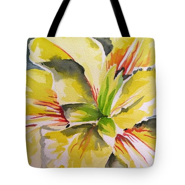 Yellow Iris Tote Bag