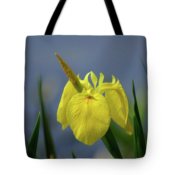 Yellow Iris Tote Bag by Jean Haynes