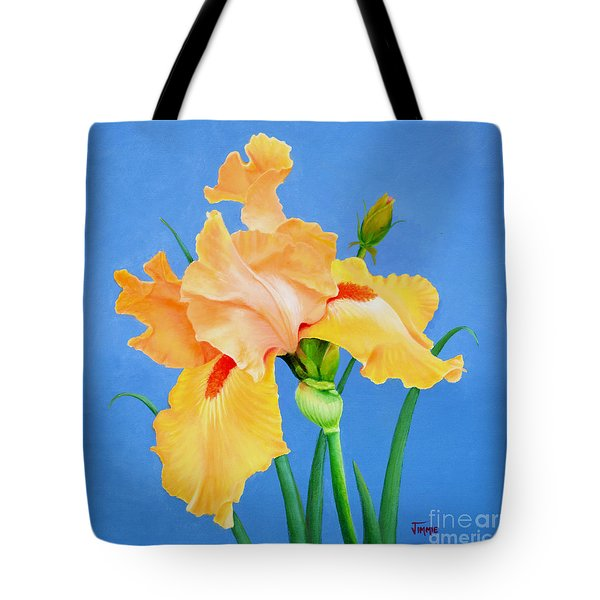 Yellow Iris Tote Bag by Jimmie Bartlett