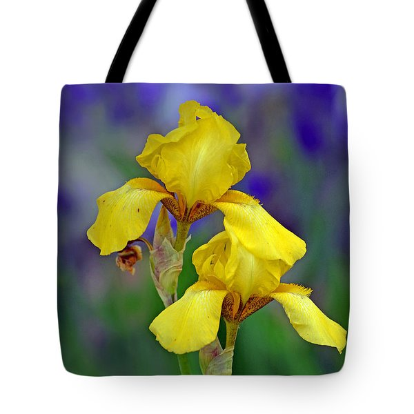 Tote Bag featuring the photograph Yellow Iris by Rodney Campbell