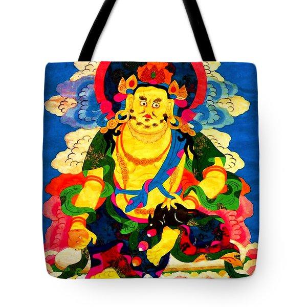 Yellow Jambhala 4 Tote Bag by Lanjee Chee