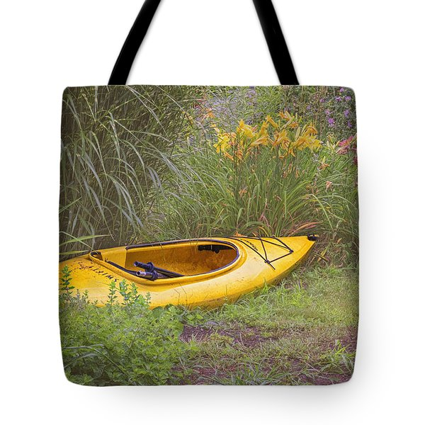 Yellow Kayak Tote Bag