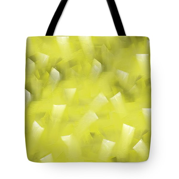 Tote Bag featuring the digital art Yellow Knife Abstract by Shelli Fitzpatrick