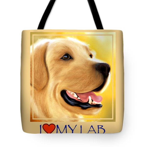 Yellow Lab Portrait Tote Bag