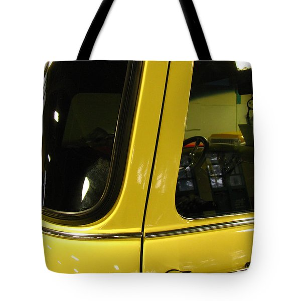 Yellow Lady Abstract Tote Bag by Peter Piatt