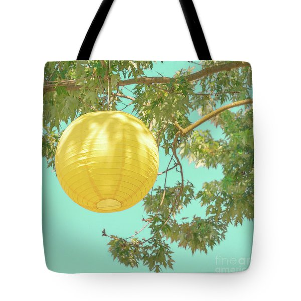 Tote Bag featuring the photograph Yellow Lantern by Cindy Garber Iverson