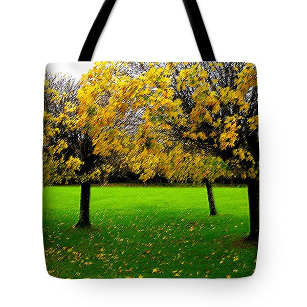 Yellow Leaves At Muckross Gardens Killarney Tote Bag